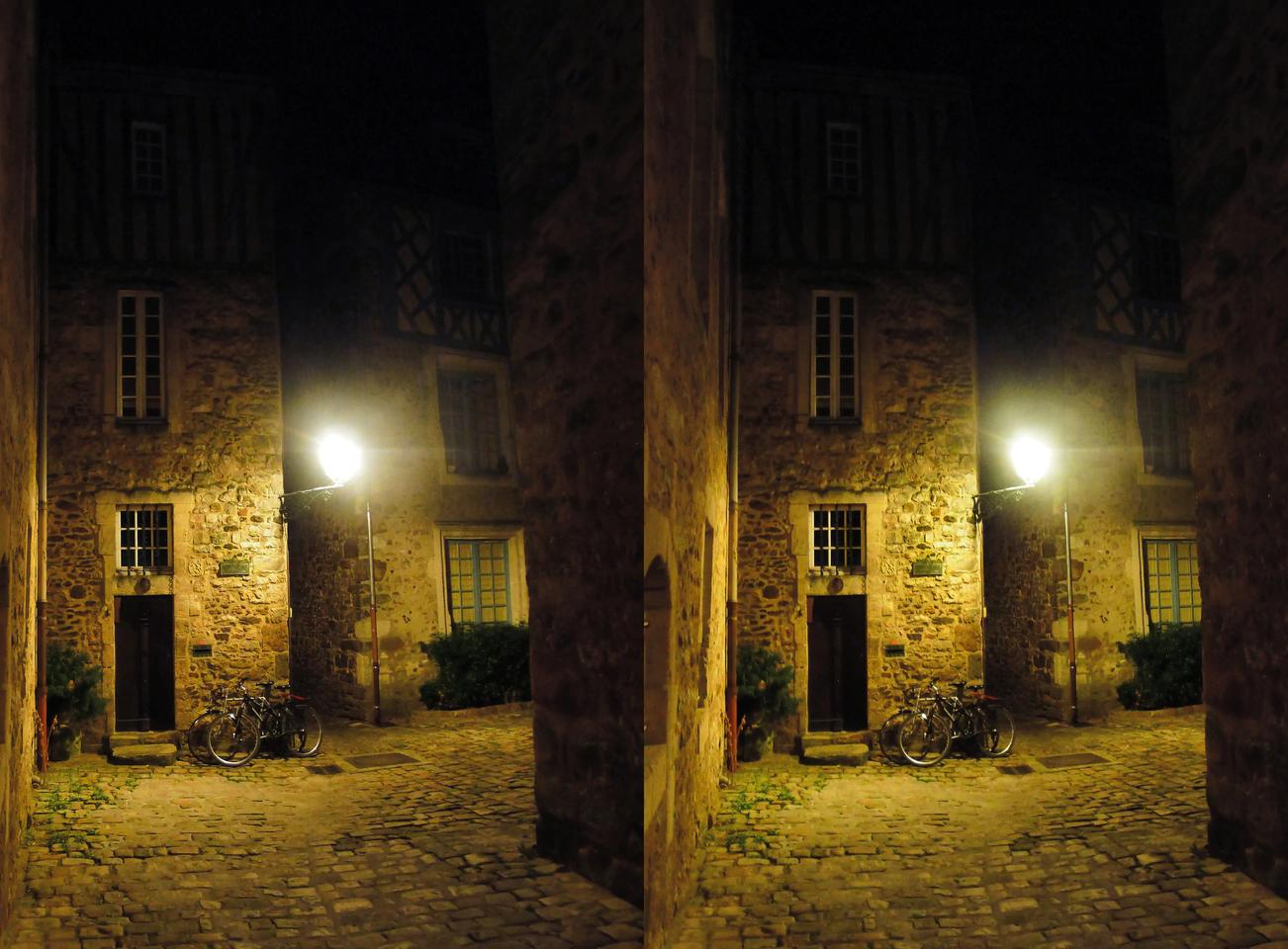 Le Mans old town by night