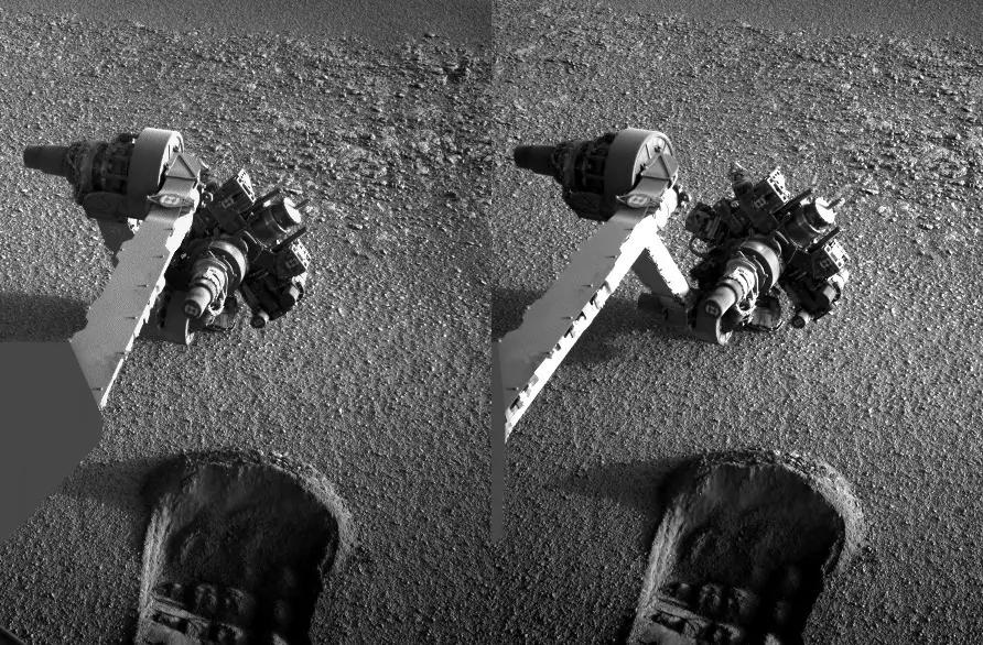 Curiosity arm and trace
