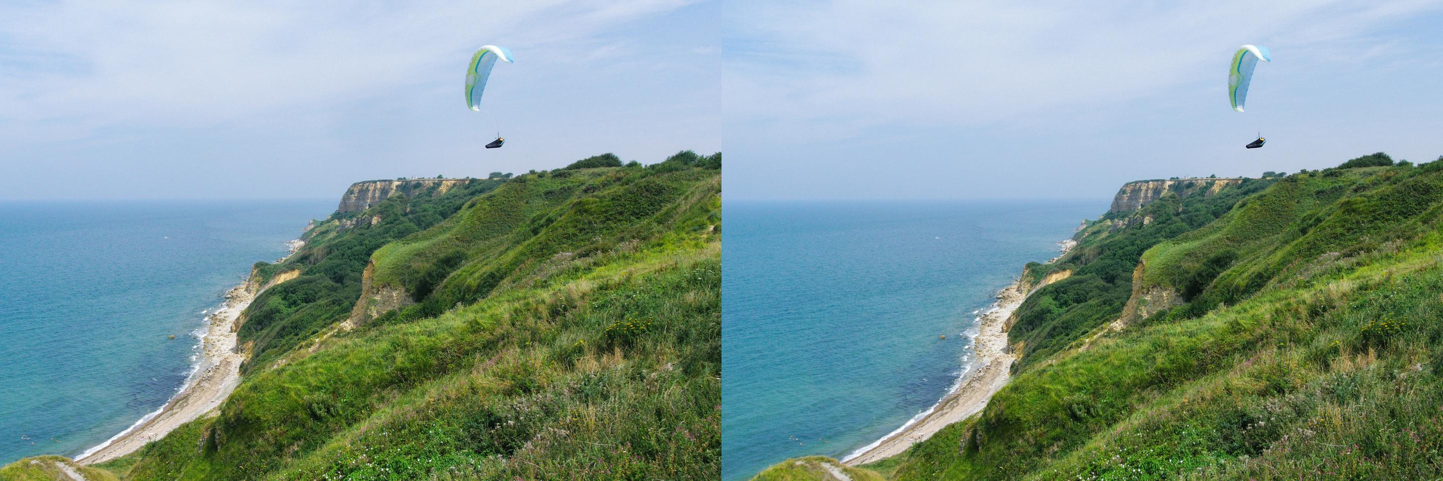 Paragliding at the coast
