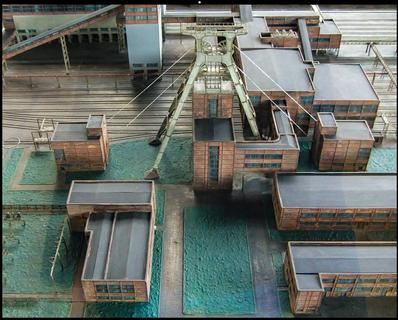 A model of the Zeche Zollverein
