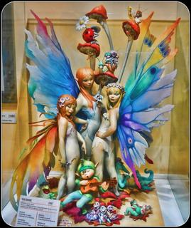 Fairies in the Plastic Display Case
