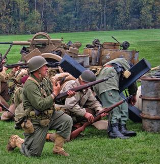 Collings Foundation WORLD WAR II Re-enactment Rifles in the Field
