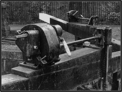 Lock winding gear - Black Pit Lock, Hebden Bridge, West Yorkshire UK
