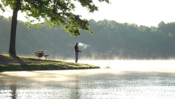 Early Morning Fisherman