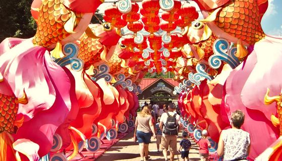 Asian Lantern festival at the Cleveland Zoo