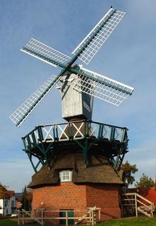 Windmill with Bird