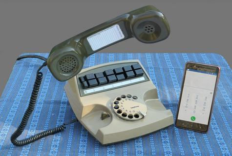 Old and new telephones